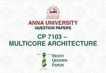 CP 7103 MULTICORE ARCHITECTURE