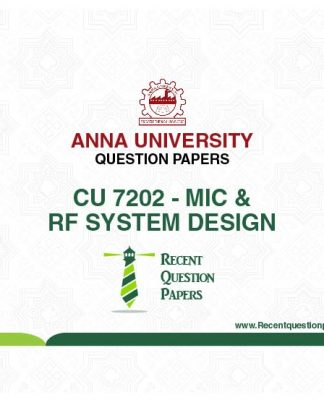 CU 7202 MIC AND RF SYSTEM DESIGN