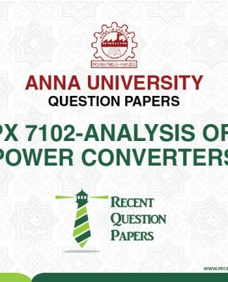 PX 7102 ANALYSIS OF POWER CONVERTERS