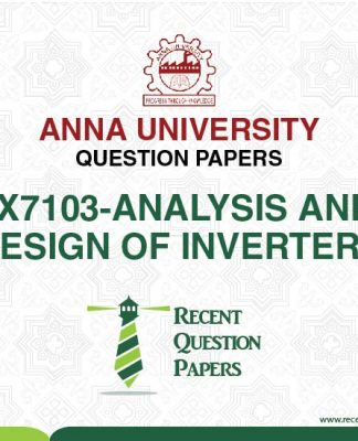 PX7103 ANALYSIS AND DESIGN OF INVERTERS