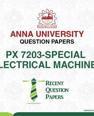 PX 7203 SPECIAL ELECTRICAL MACHINES