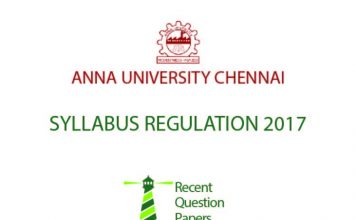 ANNA UNIVERSITY CHENNAI SYLLABUS REGULATION 2017