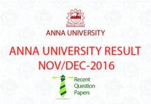 ANNA UNIVERSITY RESULT UPDATE NOVDEC 2016