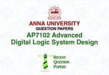 AP7102 ADVANCED DIGITAL LOGIC SYSTEM DESIGN