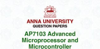 AP7103ADVANCED MICROPROCESSOR AND MICROCONTROLLER