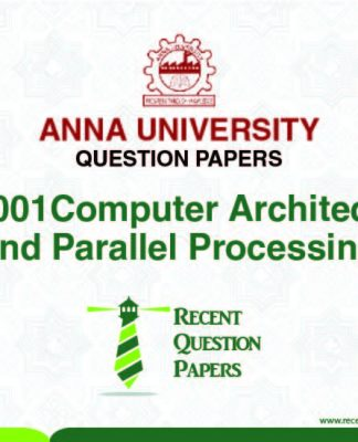 AP7001 COMPUTER ARCHITECTURE AND PARALLEL PROCESSING