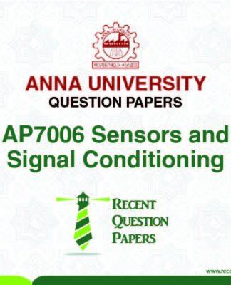 AP7006 SENSORS AND SIGNAL CONDITIONING SYLLABUS 2013 REGULATION