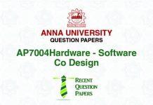 AP7004 HARDWARE SOFTWARE CO-DESIGN
