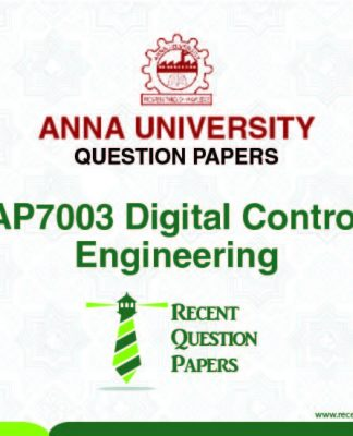 AP7003 DIGITAL CONTROL ENGINEERING SYLLABUS 2013 REGULATION