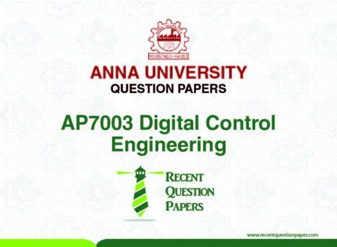 AP7003 DIGITAL CONTROL ENGINEERING SYLLABUS 2013 REGULATION