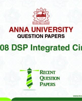 AP7008 DSP INTEGRATED CIRCUITS SYLLABUS 2013 REGULATION