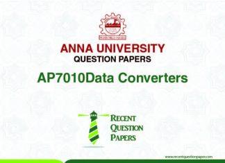 AP7010 DATA CONVERTERS SYLLABUS 2013 REGULATION