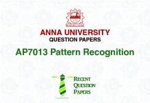AP7013 PATTERN RECOGNITION