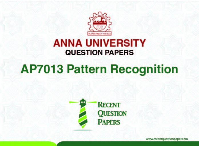 AP7013 PATTERN RECOGNITION