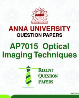AP7015 OPTICAL IMAGING TECHNIQUES