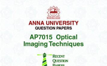 Anna university question papers | Results | News | Events
