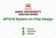 AP7016 SYSTEM ON CHIP DESIGN