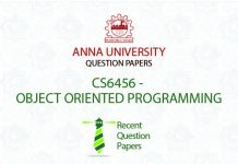 CS6456 OBJECT ORIENTED PROGRAMMING