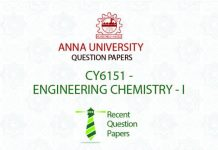 CY6151 ENGINEERING CHEMISTRY – I
