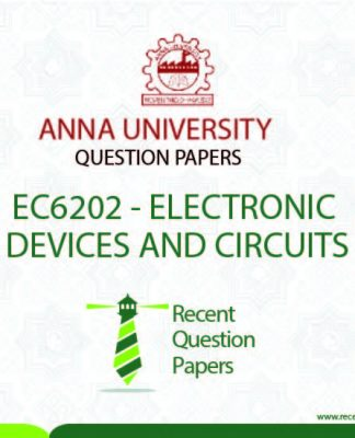 EC6202 ELECTRONIC DEVICES AND CIRCUITS