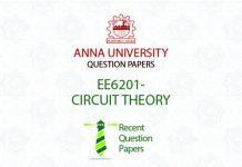 EE6201-CIRCUIT THEORY