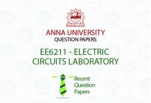 EE6211 ELECTRIC CIRCUITS LABORATORY