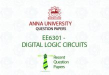 EE6301 DIGITAL LOGIC CIRCUITS