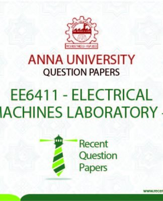 EE6411 ELECTRICAL MACHINES LABORATORY – I