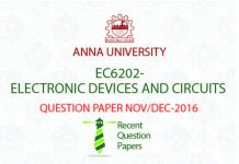 ELECTRONIC DEVICES AND CIRCUITS QUESTION PAPER