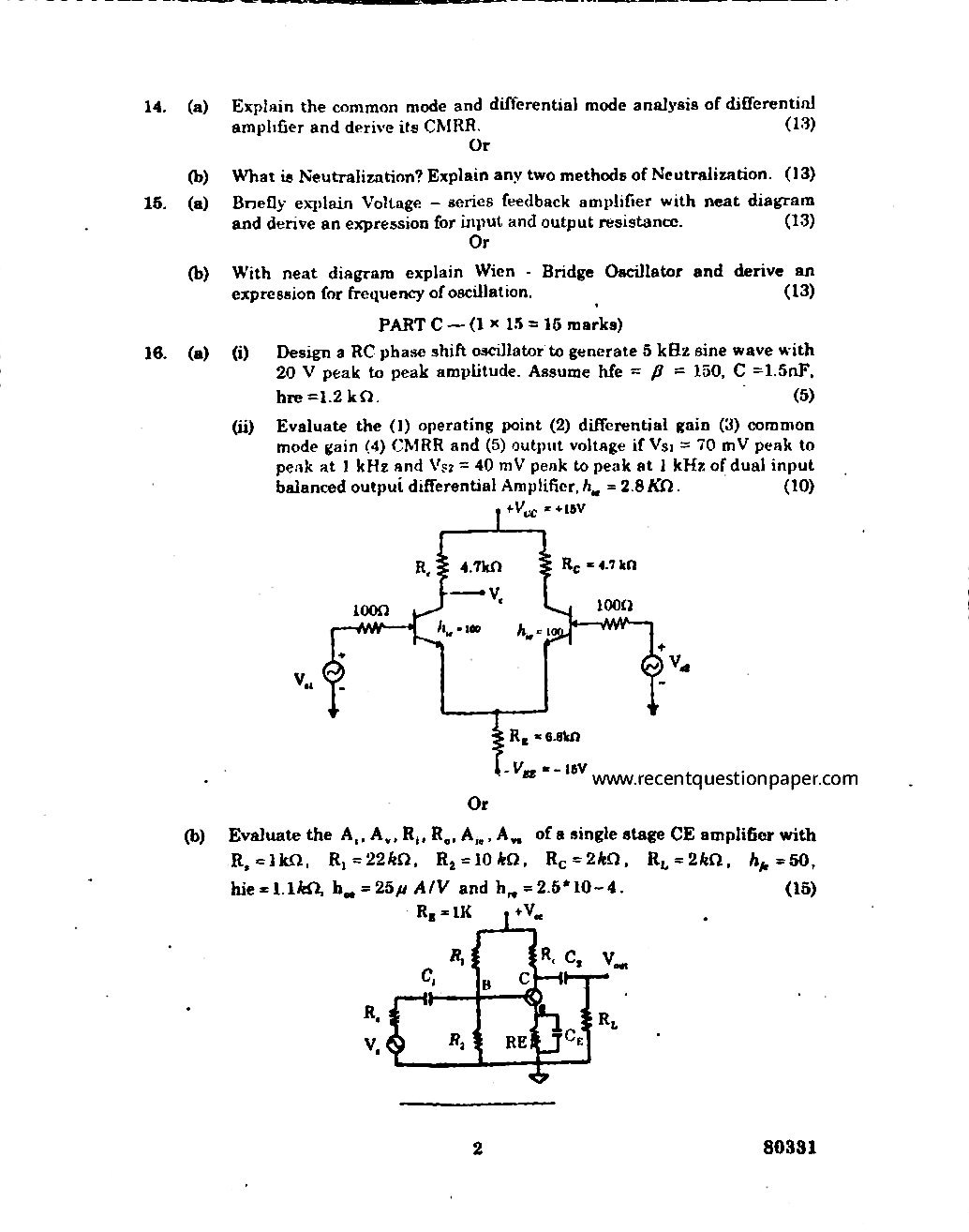 electronic-devices-and-circuits-question-paper1 - Recent Question Paper
