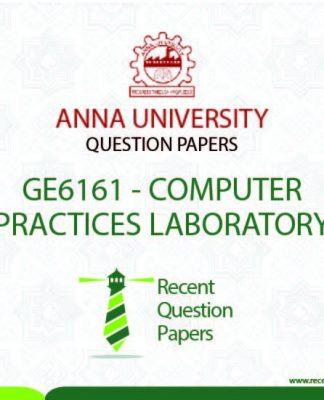 GE6161 COMPUTER PRACTICES LABORATORY