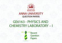 GE6163 PHYSICS AND CHEMISTRY LABORATORY – I
