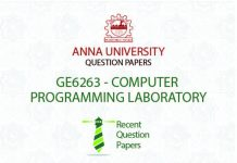 GE6263 COMPUTER PROGRAMMING LABORATORY SYLLABUS REGULATION 2013