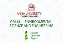 GE6351 ENVIRONMENTAL SCIENCE AND ENGINEERING