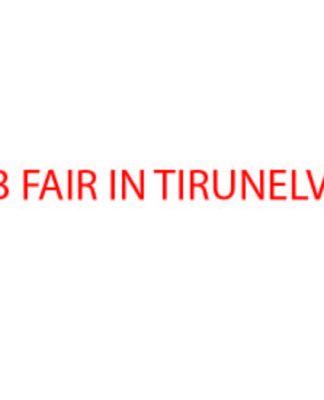 JOB FAIR in Tirunelveli