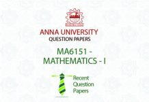 MA6151 MATHEMATICS – I