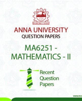 MA6251 MATHEMATICS – II