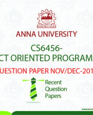 OBJECT ORIENTED PROGRAMMING QUESTION PAPER NOVDEC 2016