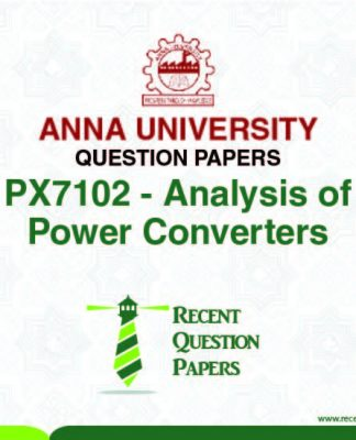 PX7102 ANALYSIS OF POWER CONVERTERS SYLLABUS