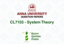 CL7103 SYSTEM THEORY