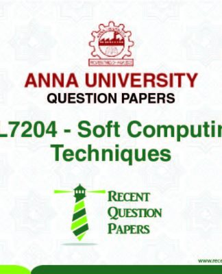 CL7204 SOFT COMPUTING TECHNIQUES