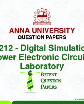 EB7212 DIGITAL SIMULATION OF POWER ELECTONIC CIRCIUTS
