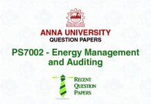 PS7002 ENERGY MANAGEMENT AND AUDITING