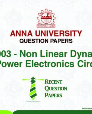 PX7003 NON LINEAR DYNAMICS FOR POWER ELECTRONIC CIRCUITS