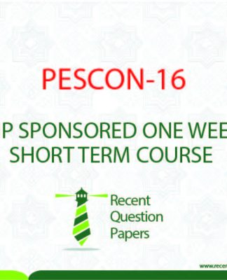 PESCON-16 QIP SPONSORED ONE WEEK SHORT TERM COURSE