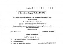 OBJECT ORINTED PROGRAMMING UNIVERSITY QUESTION PAPER
