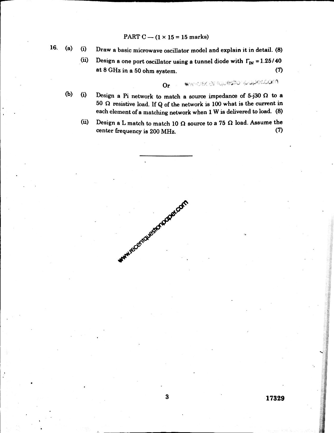 CU7202 MIC AND RF SYSTEM DESIGN 2 - Recent Question Paper