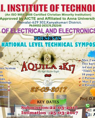 National Level Technical Symposium and Project Contest 2017