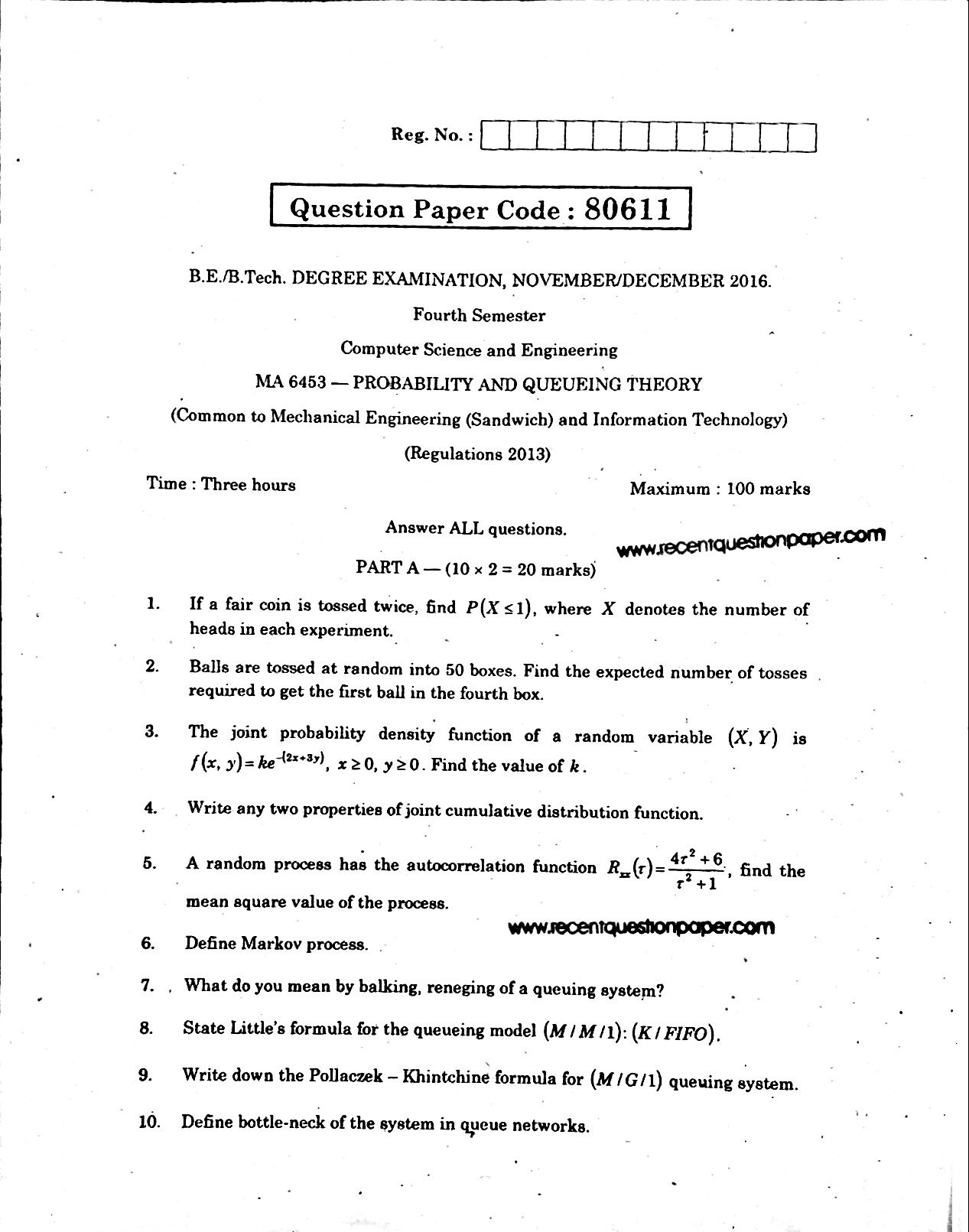 [PDF] MA  Probability and Queueing Theory Lecture Notes ...