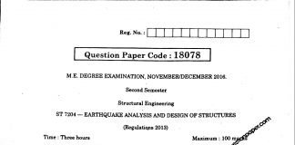 EARTHQUAKE ANALYSIS AND DESIGN OF STRUCTURES
